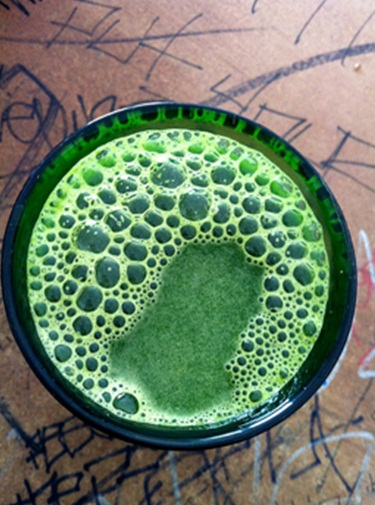Try adding avocado to your juices. They're not only great for you but delicious too.